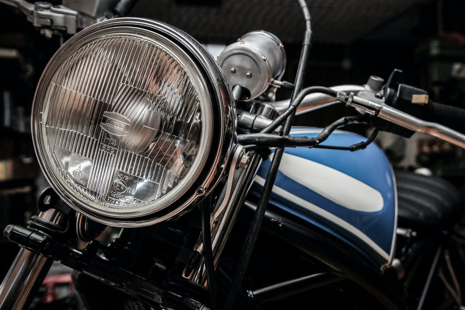 headlight, motorbike, motorcycle