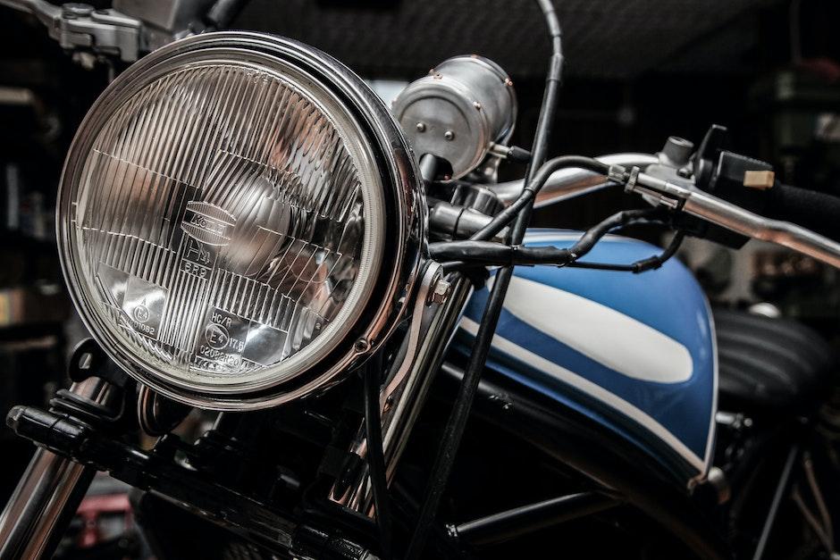 headlight, motorbike, motorcycle