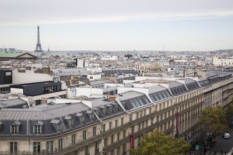 Top View of Paris City and Eiffel Tower