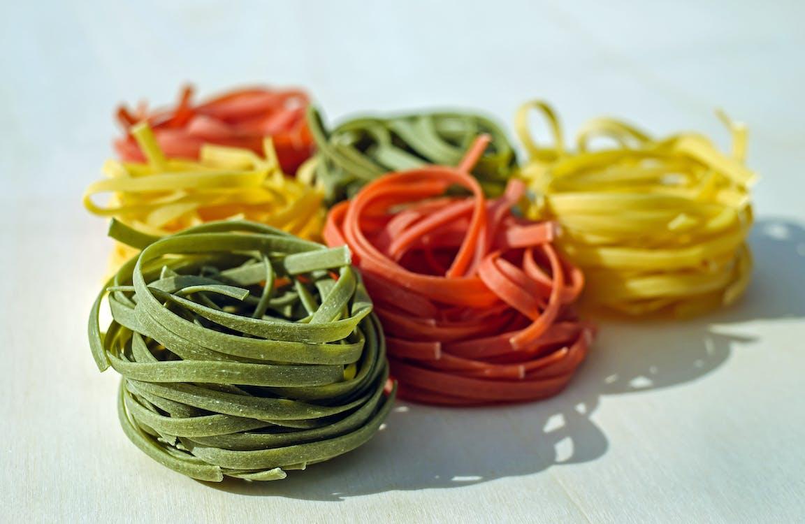 Green Orange and Yellow Pasta