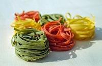 food, pasta, blur
