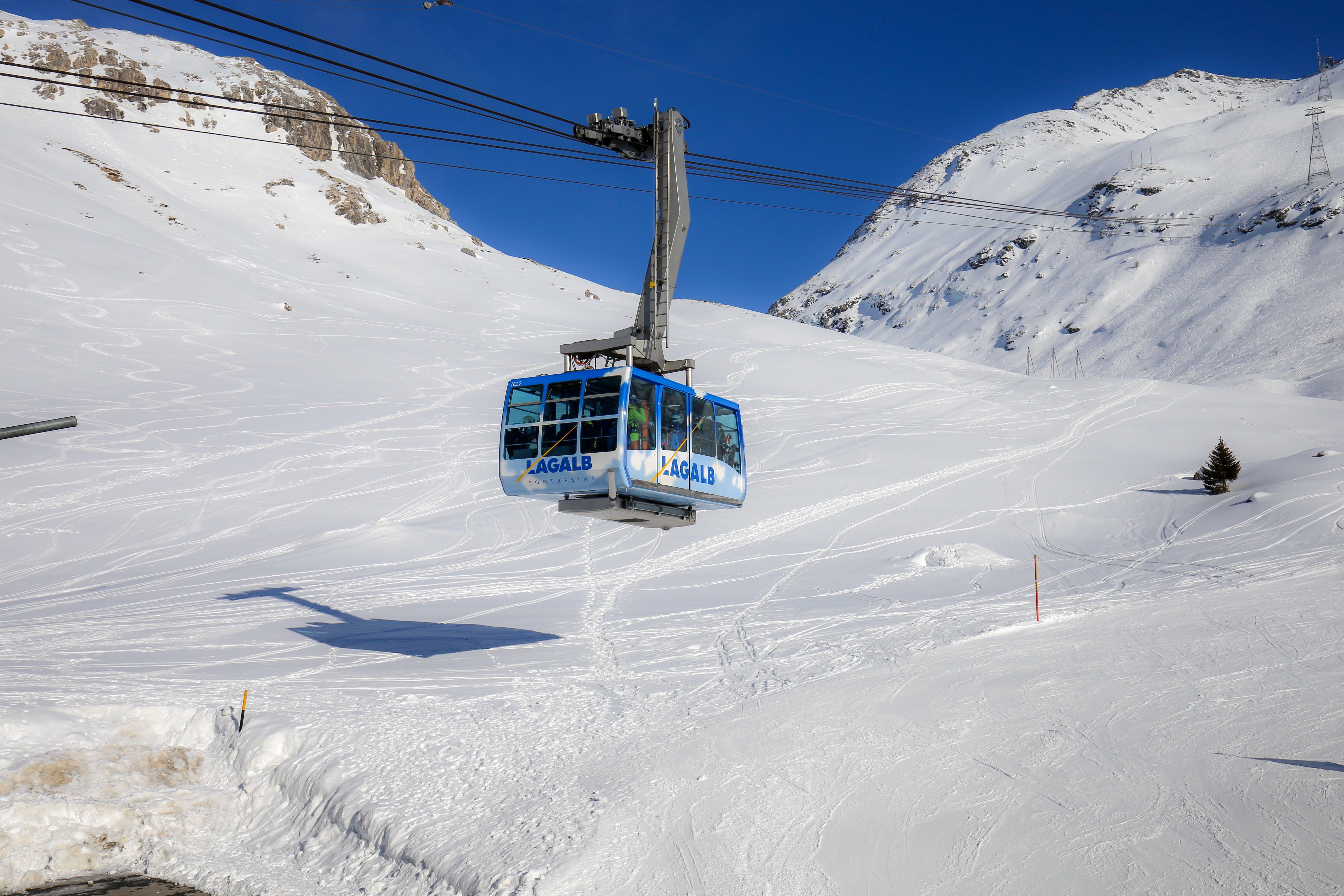 White Ski Lift