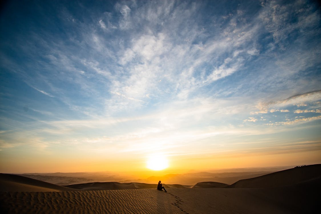 Sanddünen Während Der Goldenen Stunde