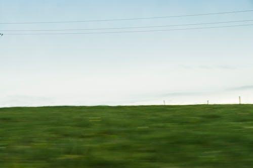 Imagine de stoc gratuită din câmp, cer, estompare, fire de cablu