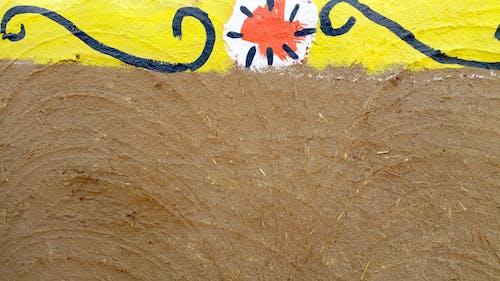 ウォールアート, オレンジ, ハンドクラフト, パブリックアートの無料の写真素材