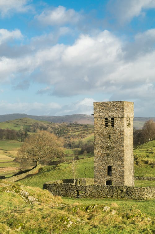 Free stock photo of hill, lake district, tower