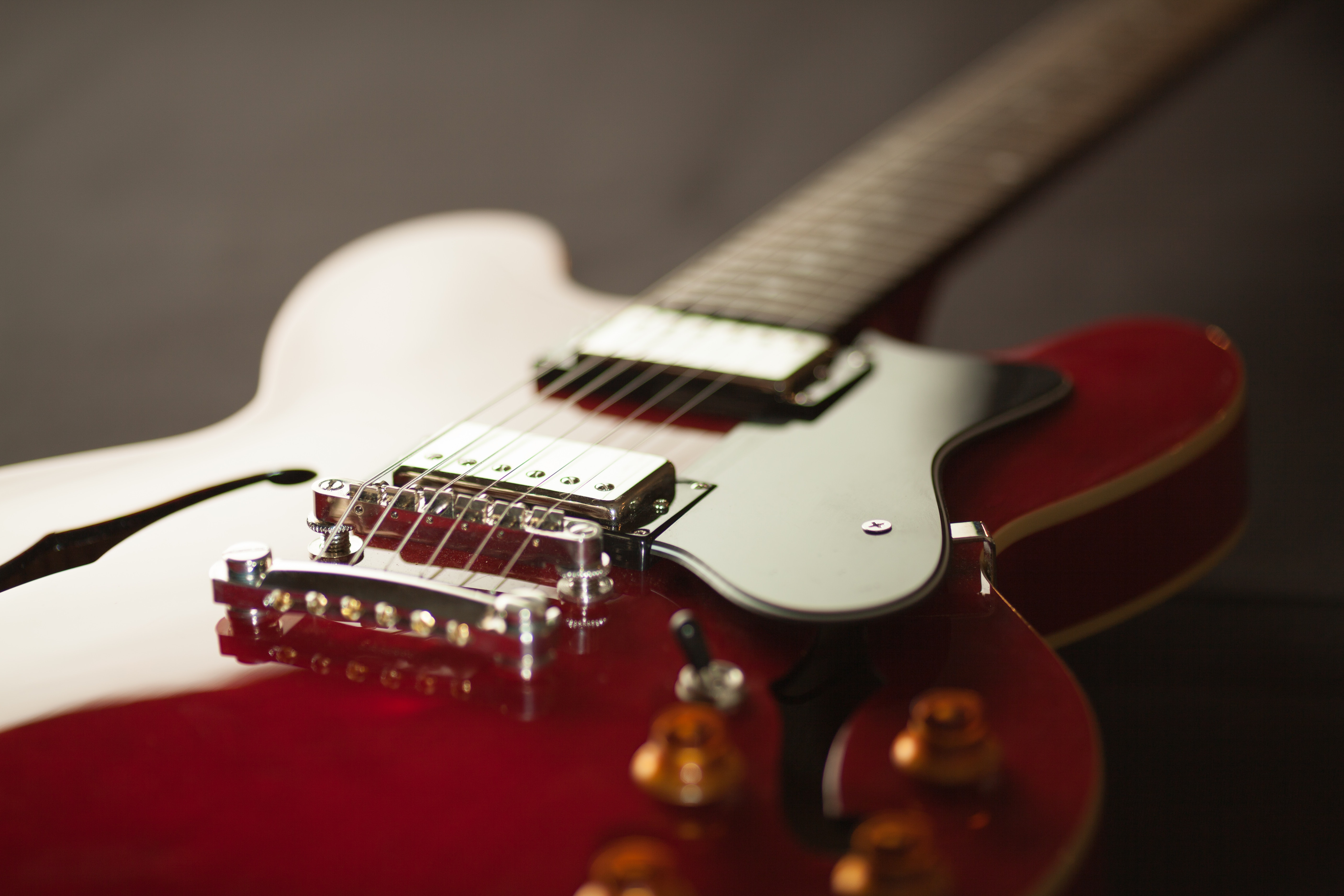 Red Electric Guitar Free Stock Photo