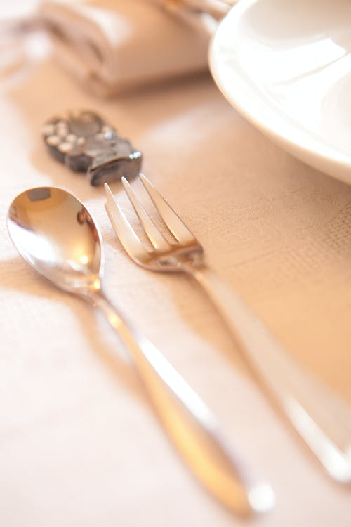 Free stock photo of close-up, dining table, fork, luxurious