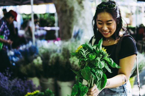 Photo of Woman Holding Plants