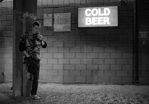 Free stock photo of black and white, moody, sad