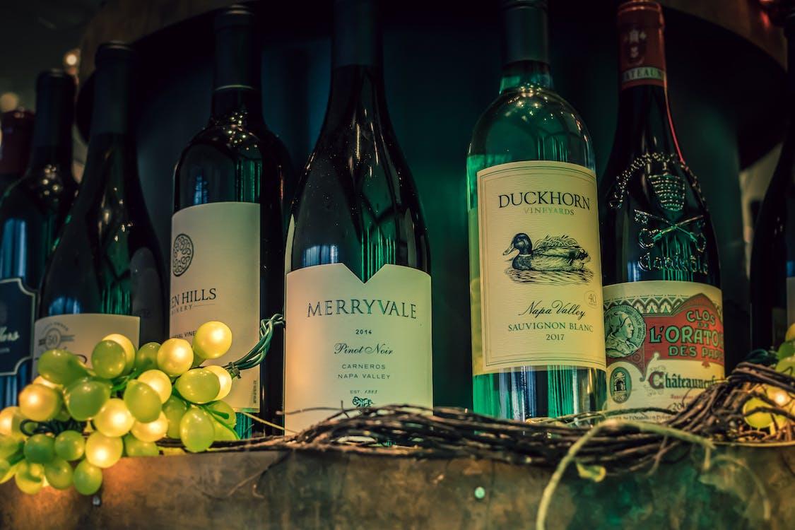 alcohol, ampolles, ampolles de vi