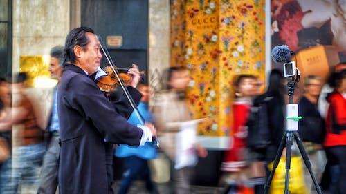 Kostenloses Stock Foto zu bewegungsunschärfe, geige, violine