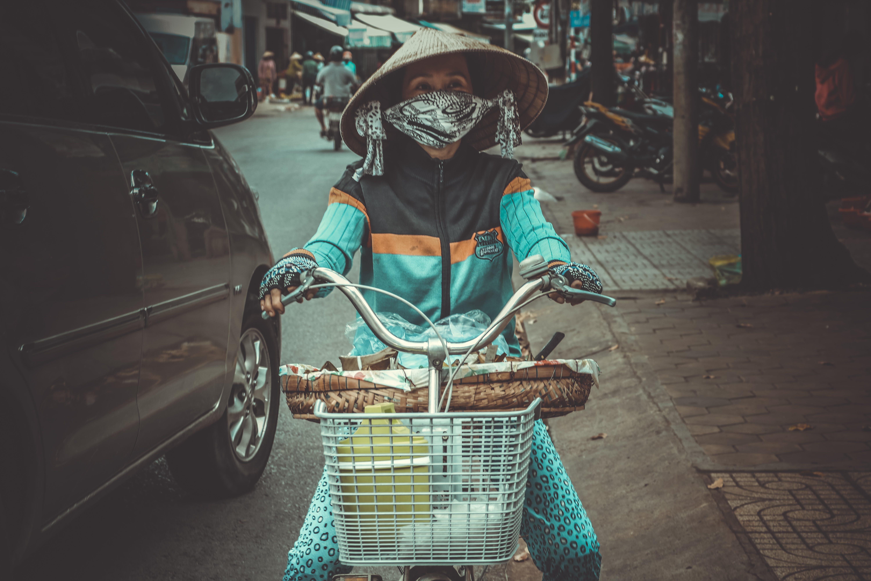 Kostenloses Stock Foto zu asien: menschen, auto, business, fahrrad