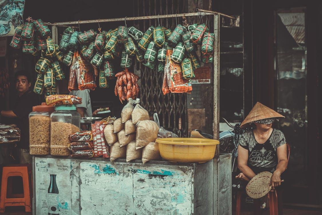 asiatiske mennesker, bod, dagslys