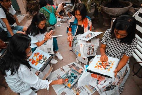 Бесплатное стоковое фото с membatik, Азиатская девушка, батик, девочки