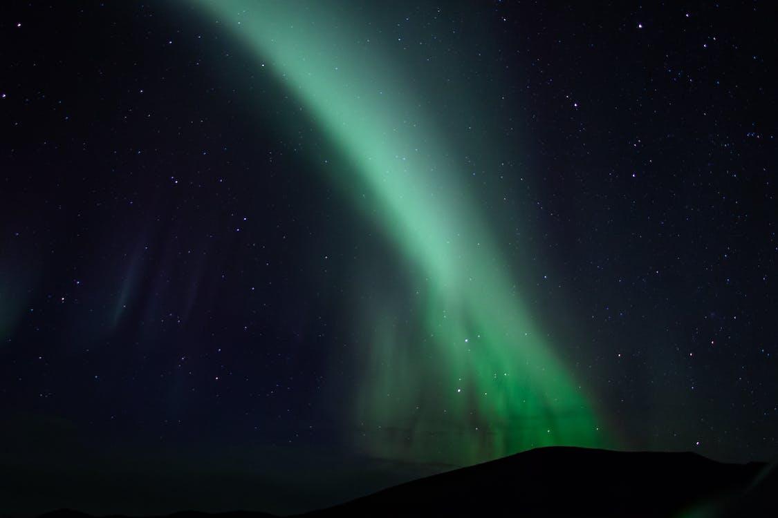 aurora borealis, himmel, konstellation
