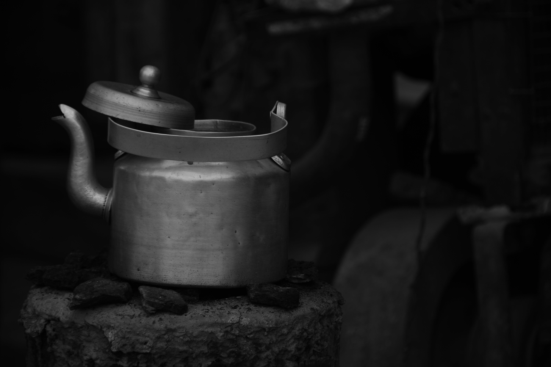 kettle, tea