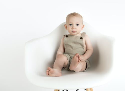 Free stock photo of baby, chair, minimalist