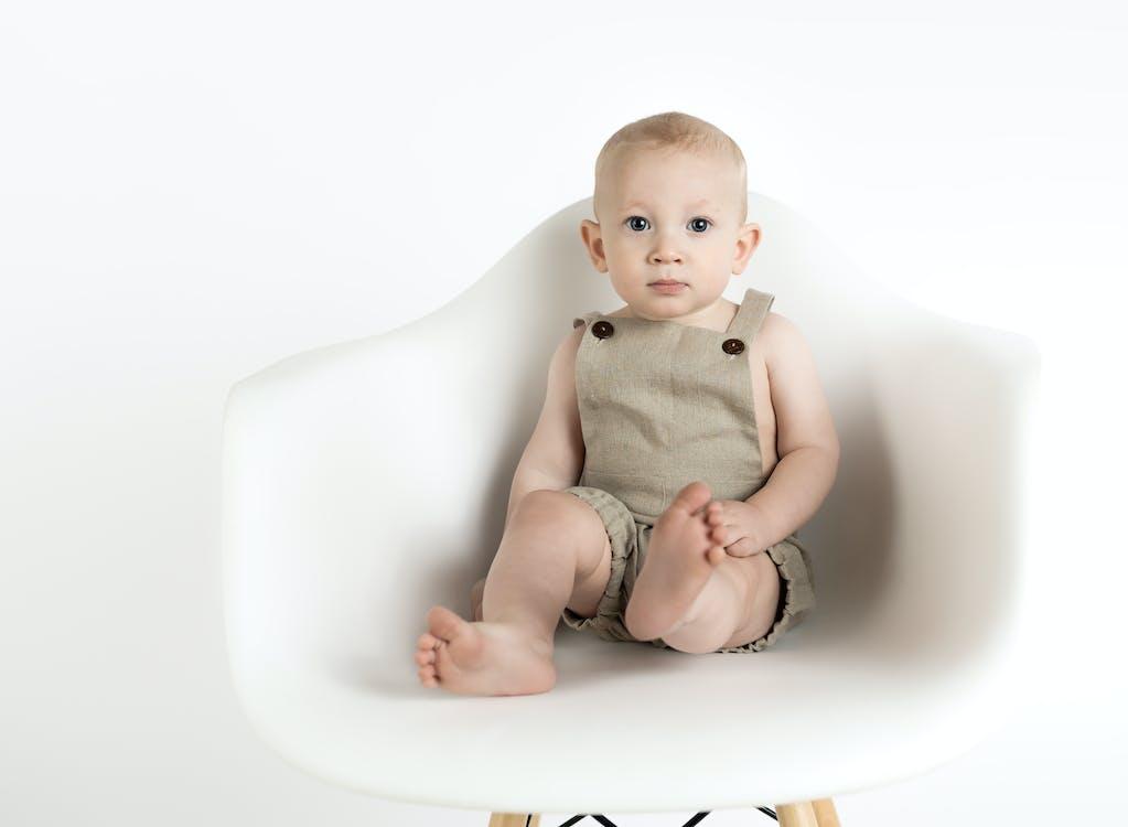 bebê, cadeira, cátedra