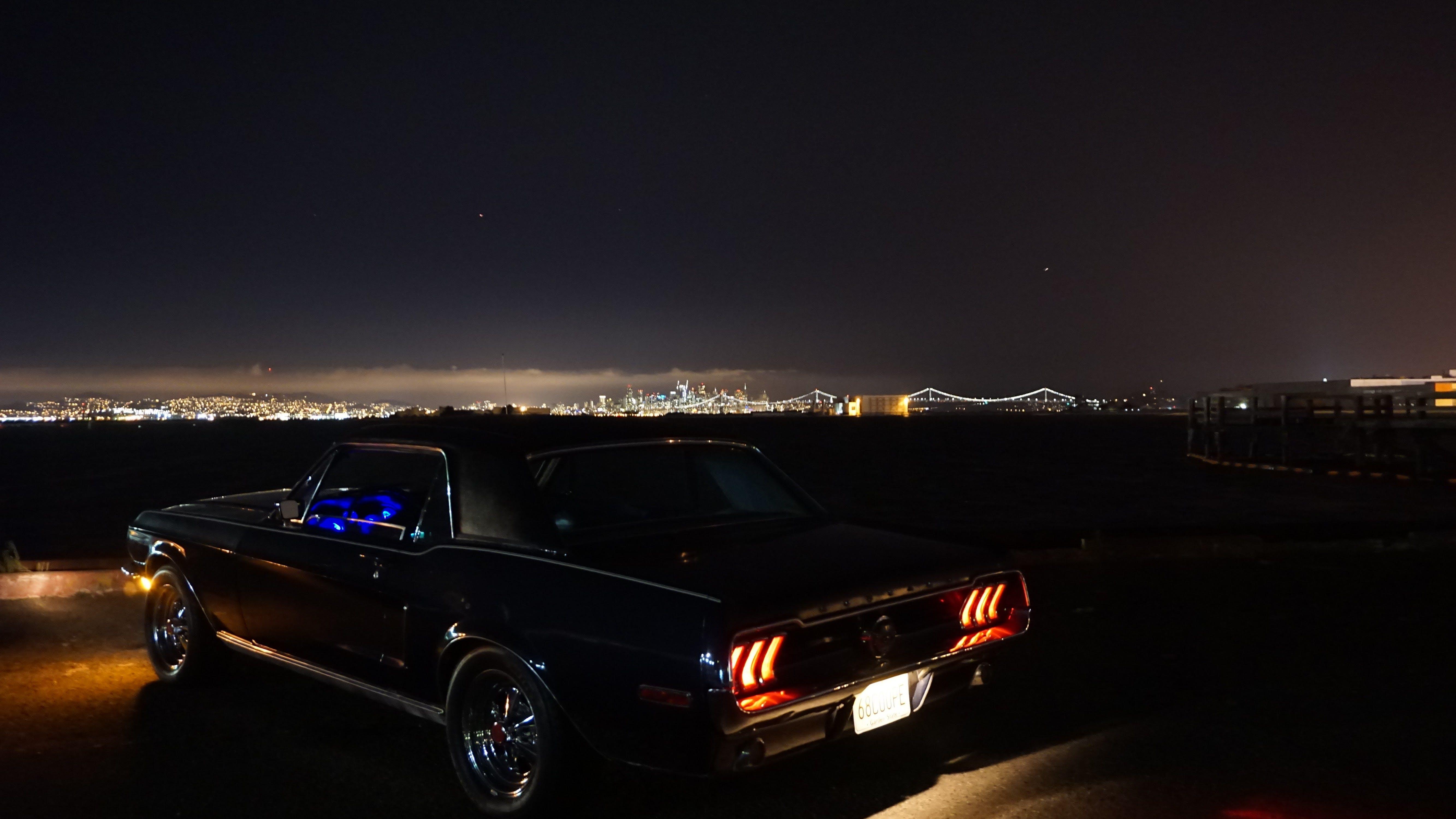 Gratis lagerfoto af aften, baglygter, bil, by