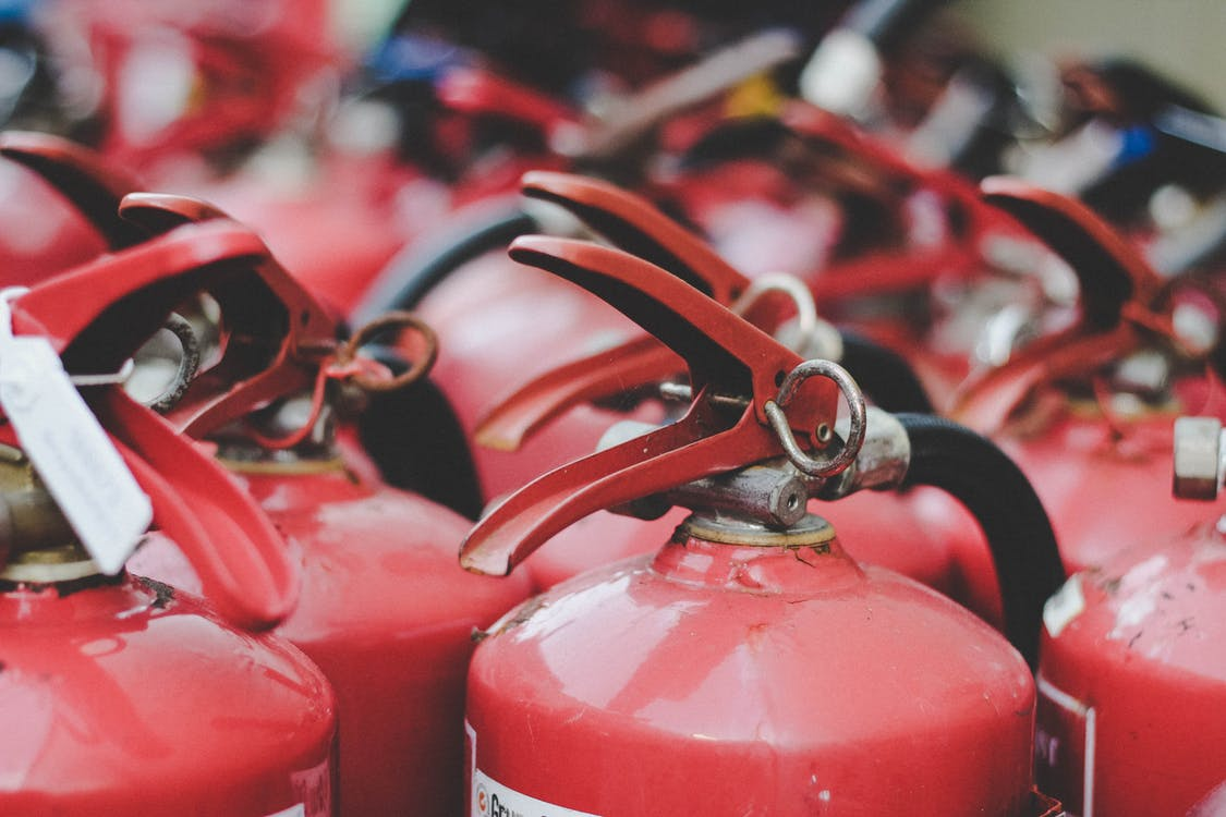 Red Fire Extinguisher Lot