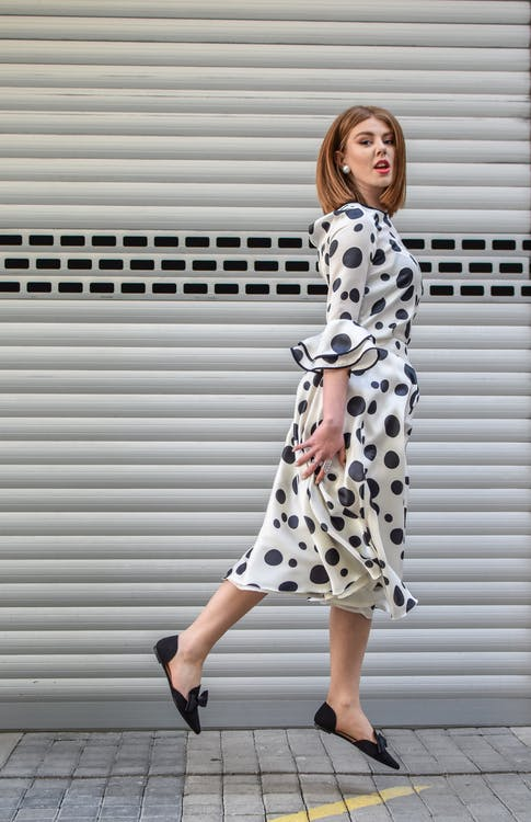 Photo of Woman Wearing Polka Dot Dress