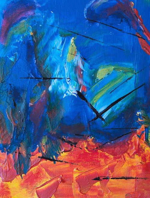 Darmowe zdjęcie z galerii z artystyczny, intensywny kolor, kanwa, kolorowy