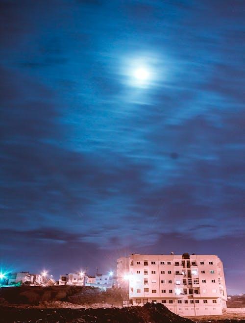 Gratis arkivbilde med blue angels, lukkertid, måne, nattby