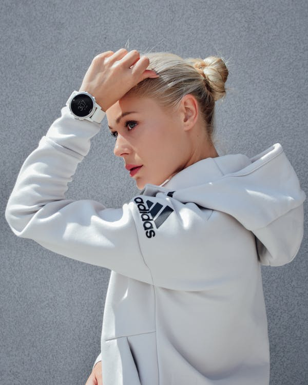armbåndsur, attraktiv, blond