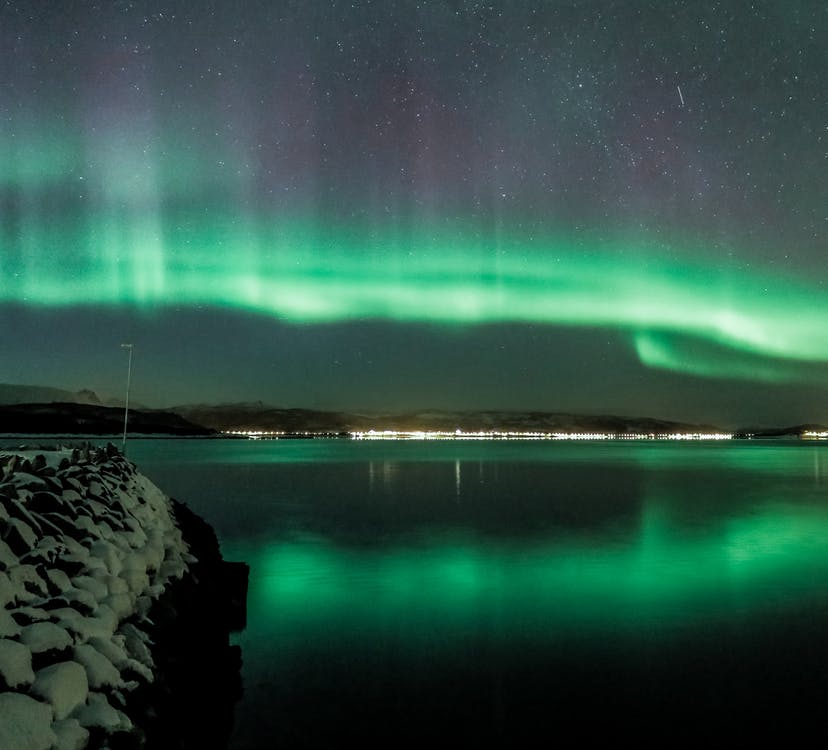 Northern Lights above Lake