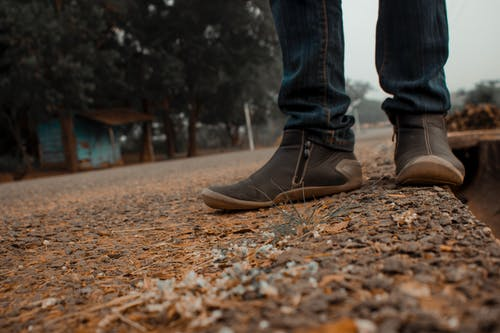 Free stock photo of curvy road, leather shoes, road, shoe