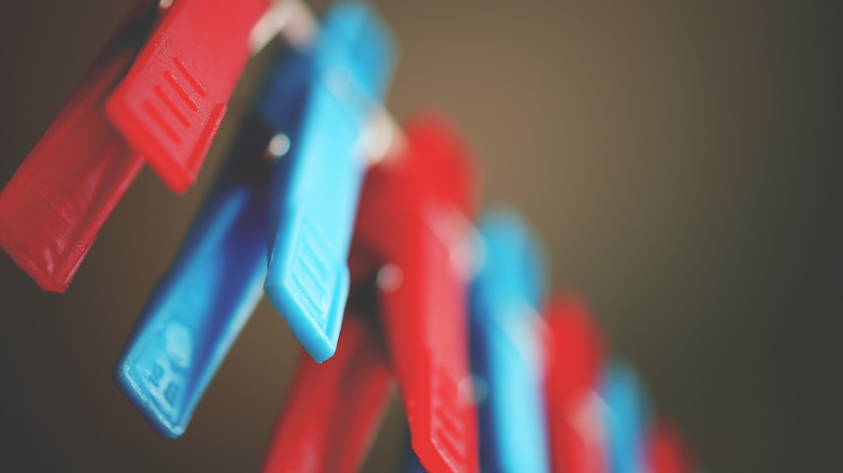Red and Blue Plastic Pegs