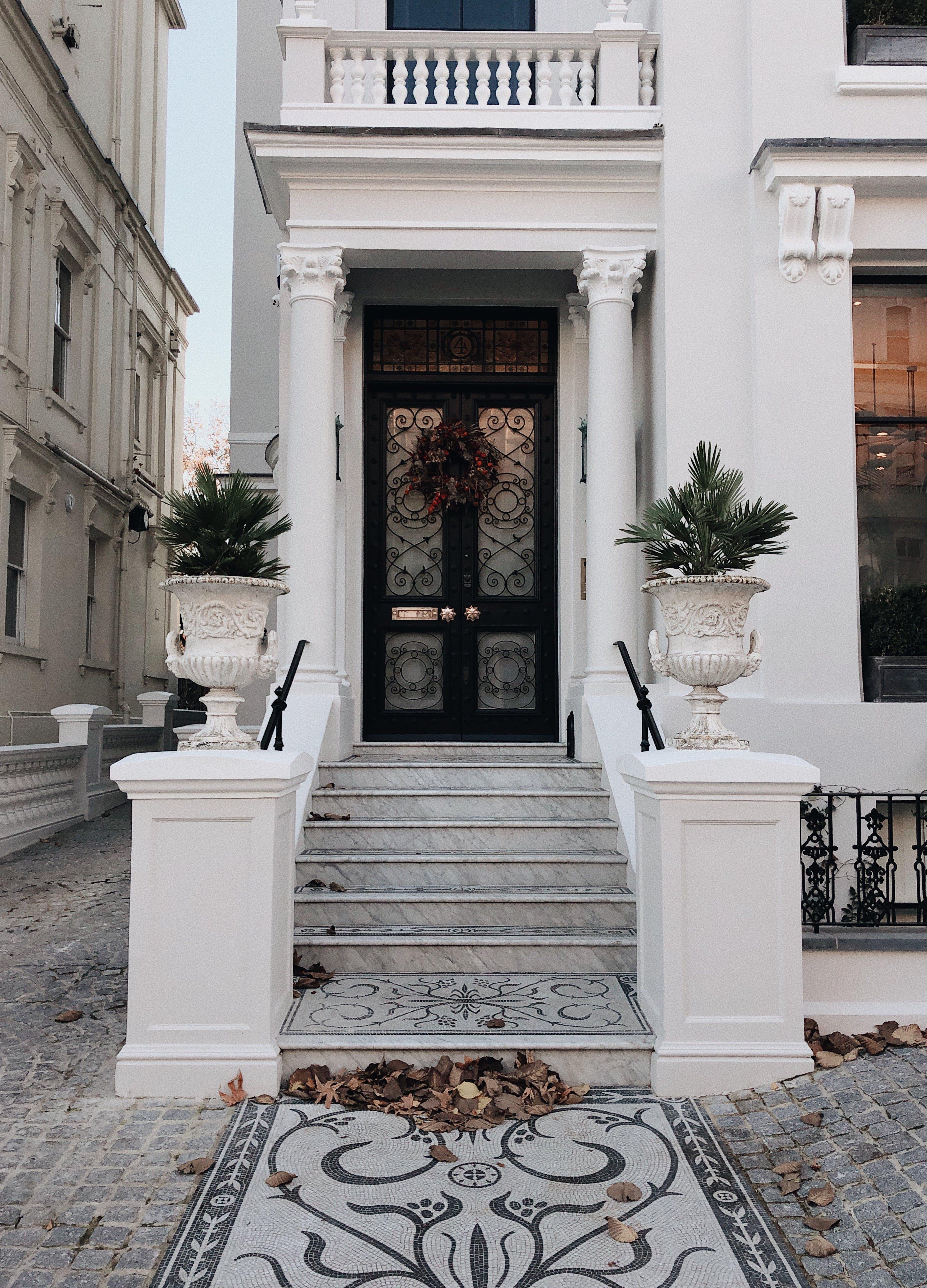 Stairs Towards Closed Door