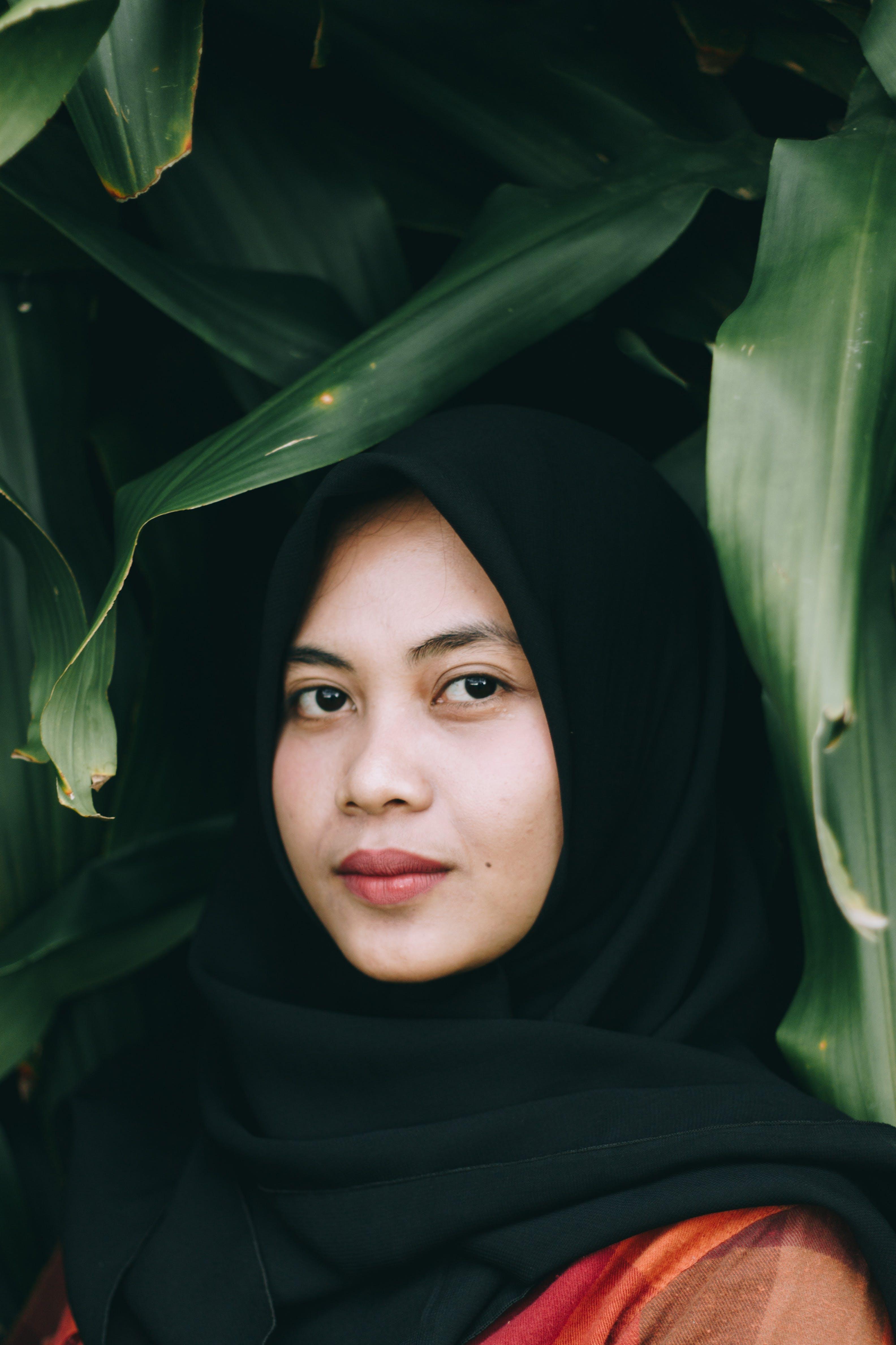 Photo of Woman Wearing Black Headscarf