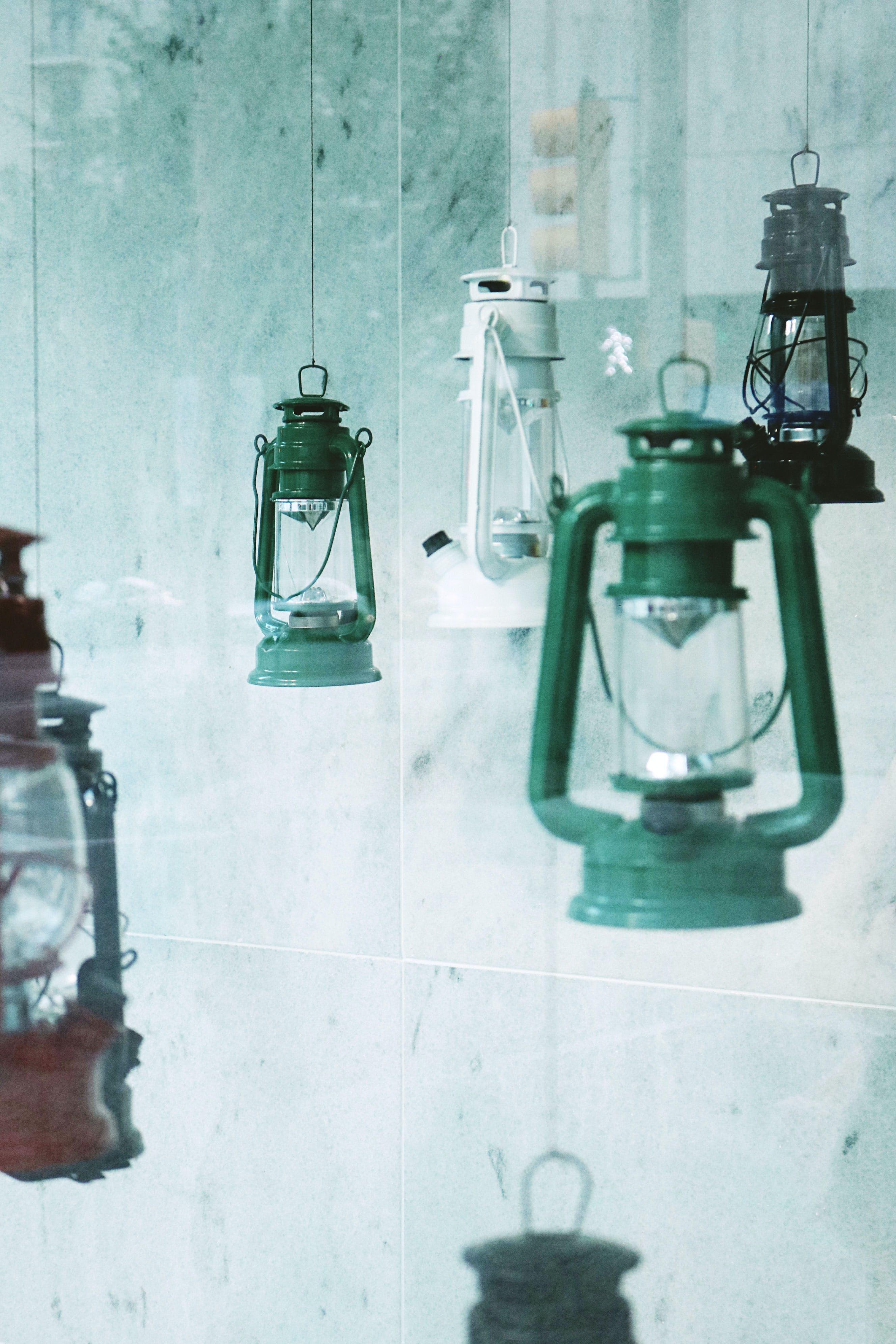 Four Assorted-color Kerosene Lanterns