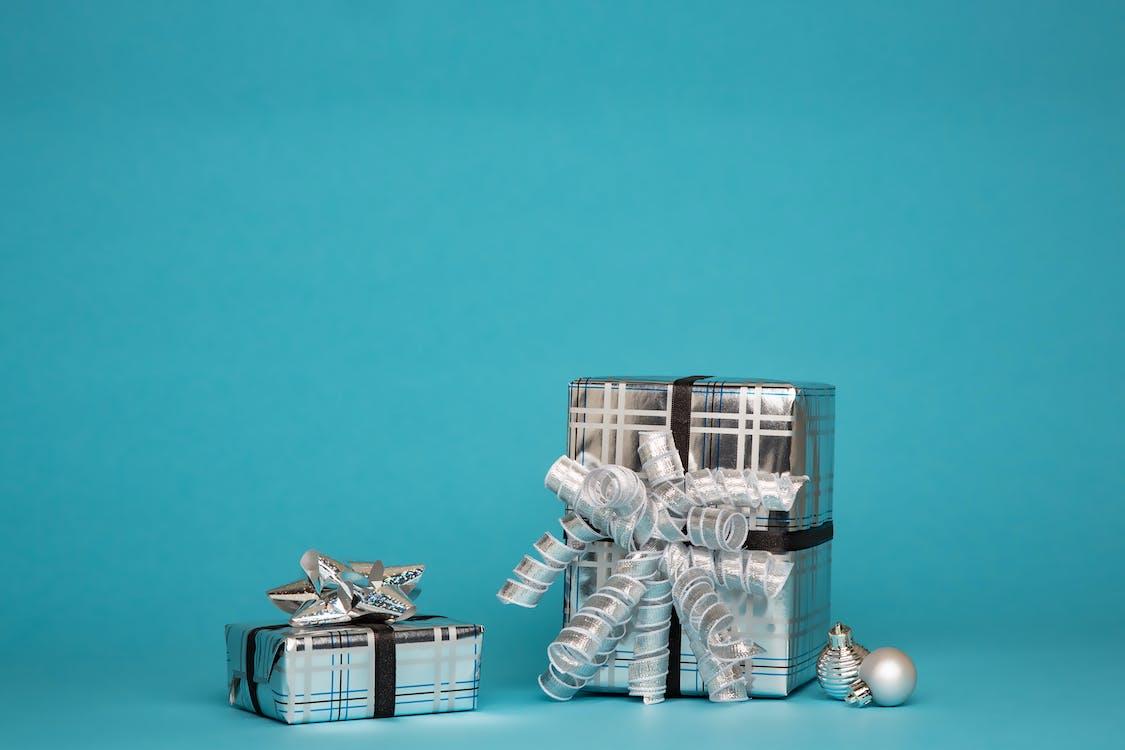 caja de regalo, cajas, cintas