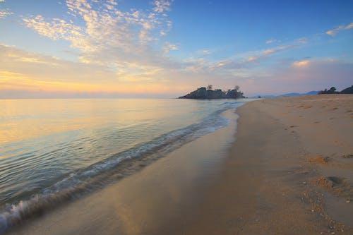 คลังภาพถ่ายฟรี ของ คลื่น, ชายหาด, ดวงอาทิตย์, ตะวันลับฟ้า