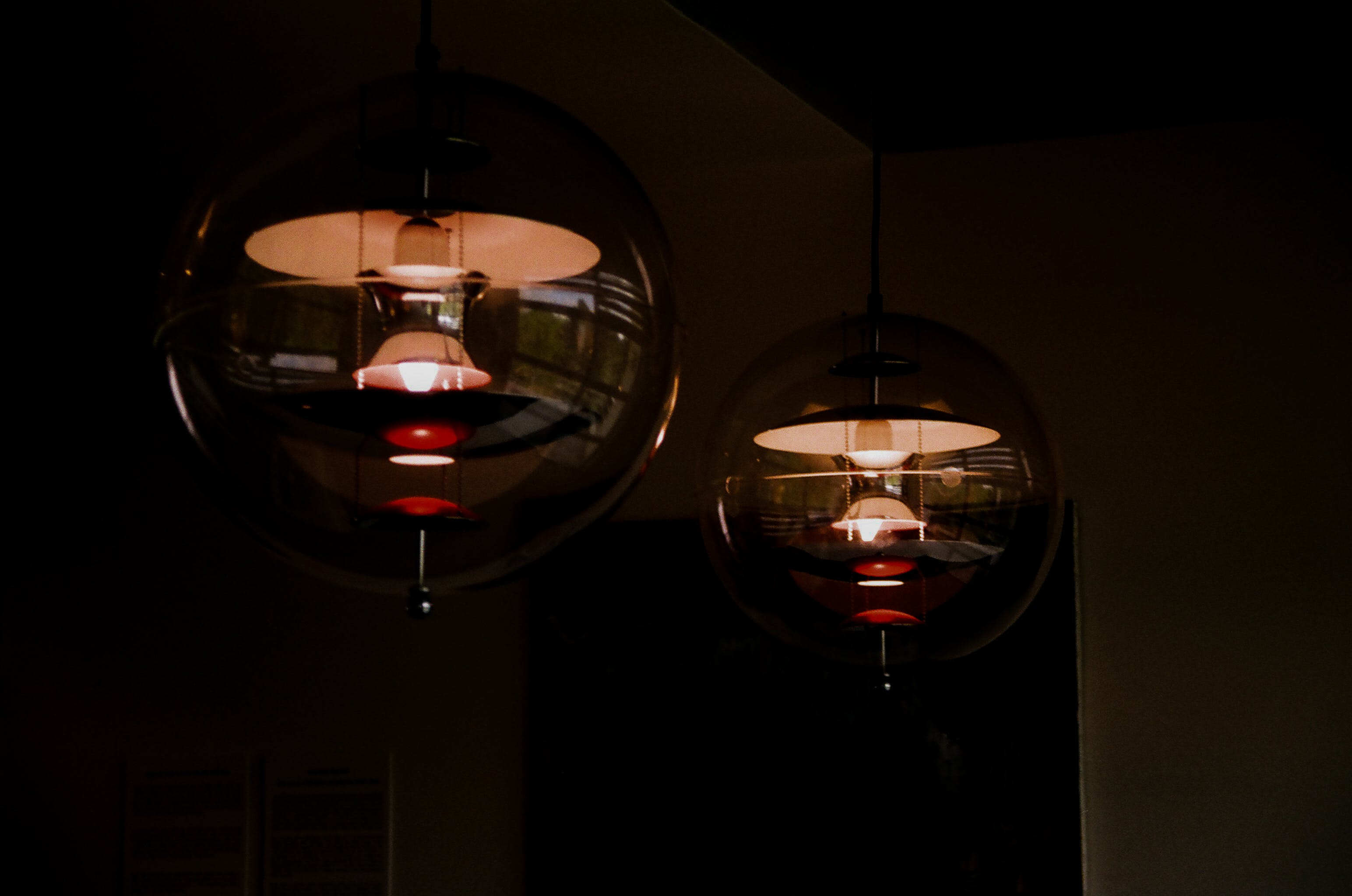 Two Black-and-red Ceiling Light