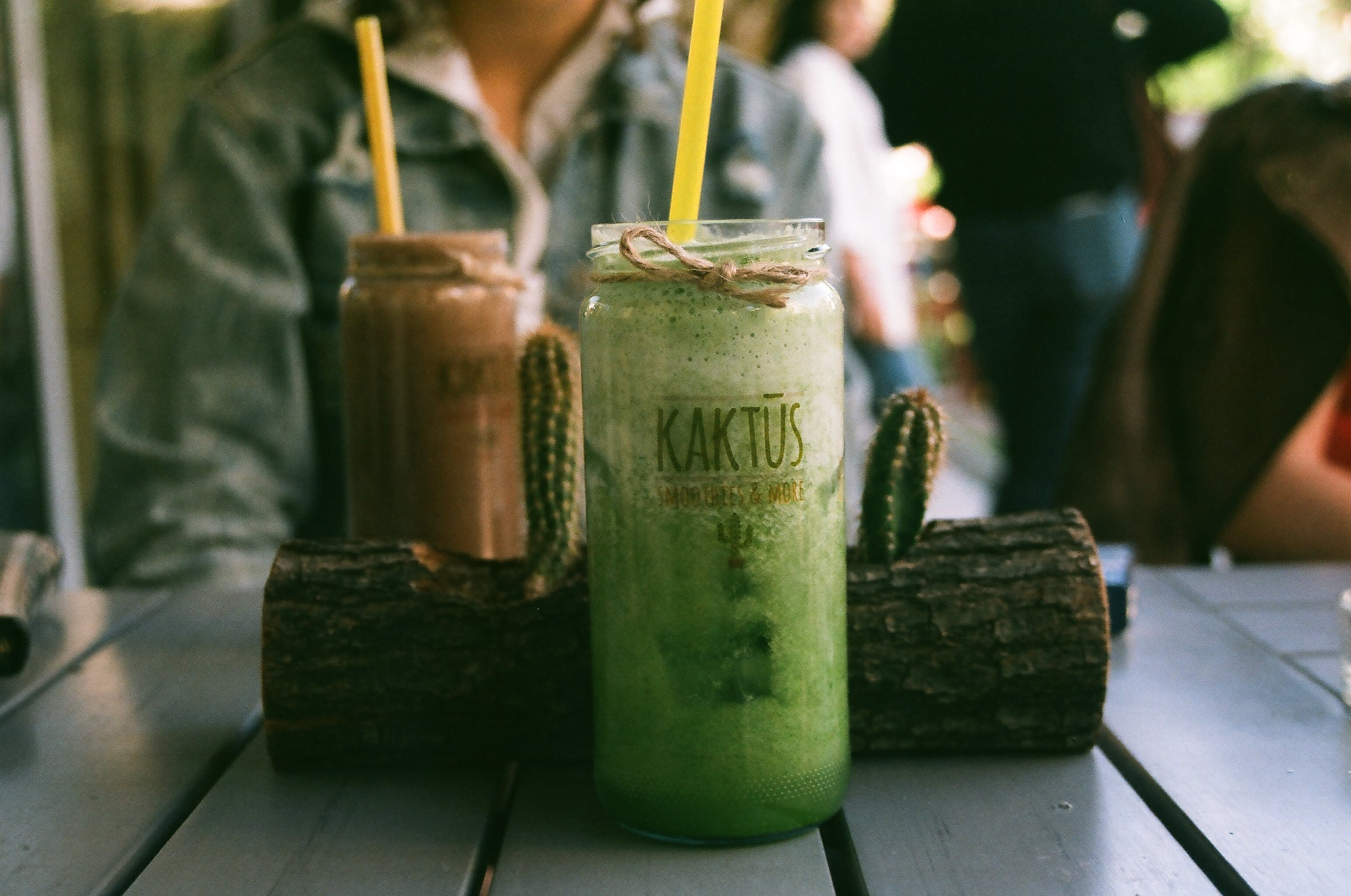 Green Beverage With Straw