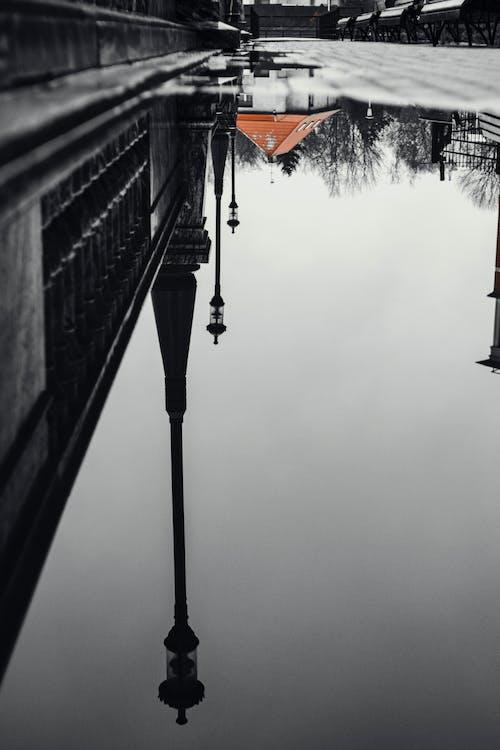 Darmowe zdjęcie z galerii z droga, miejski, odbicie, po deszczu