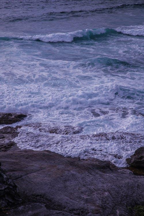 Δωρεάν στοκ φωτογραφιών με rock, ακτή, αφρός, γνέφω