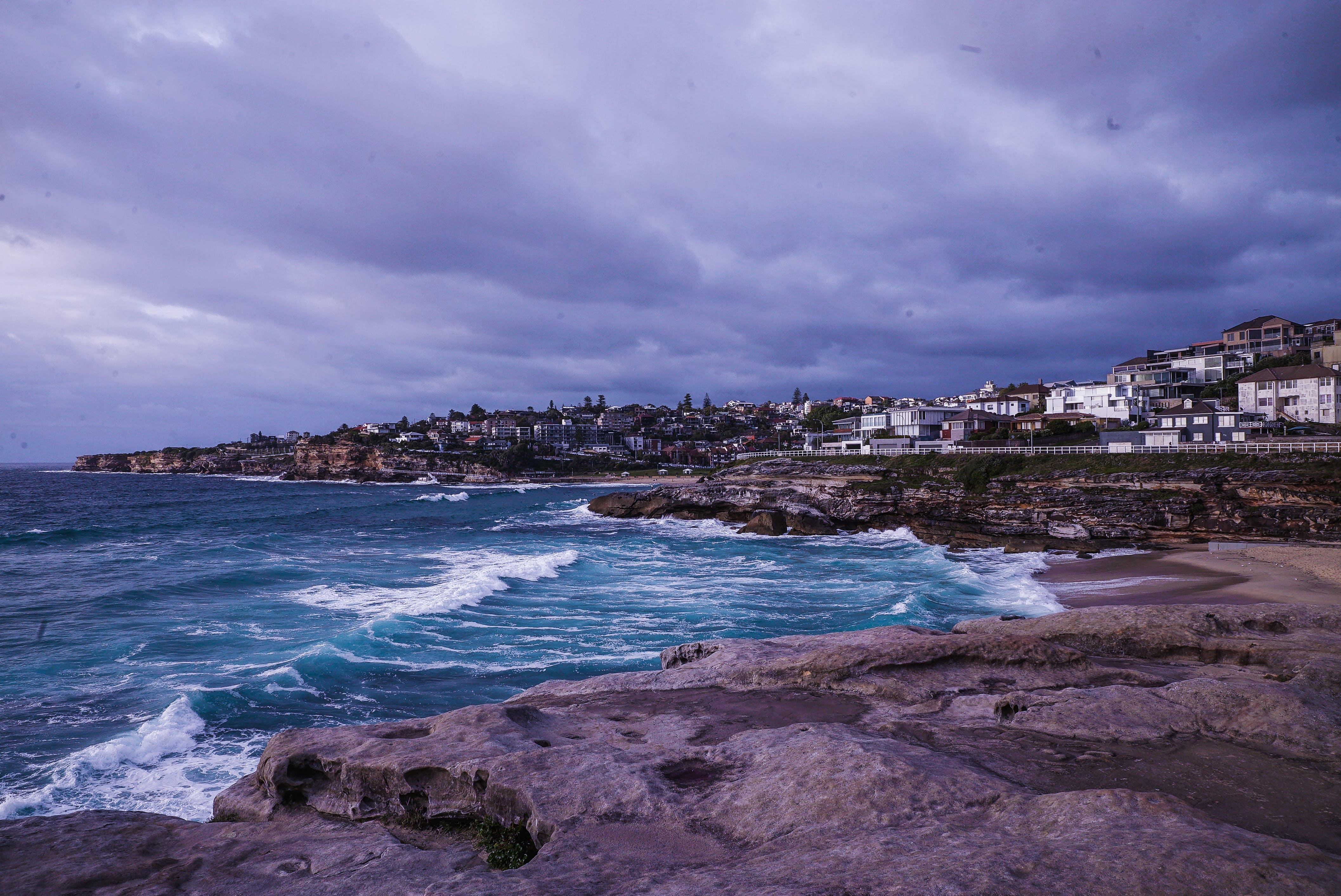 Imagine de stoc gratuită din apă, case, cer, coastă