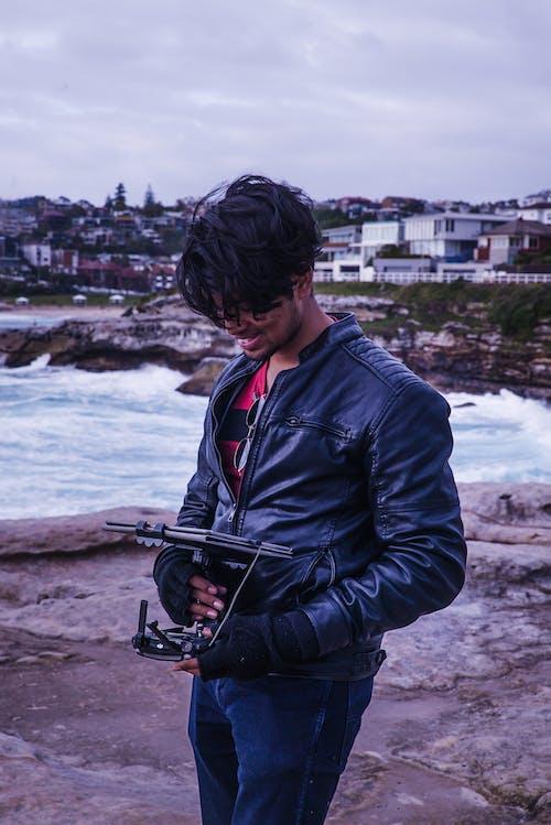 가죽 자켓, 경치, 기술, 남자의 무료 스톡 사진