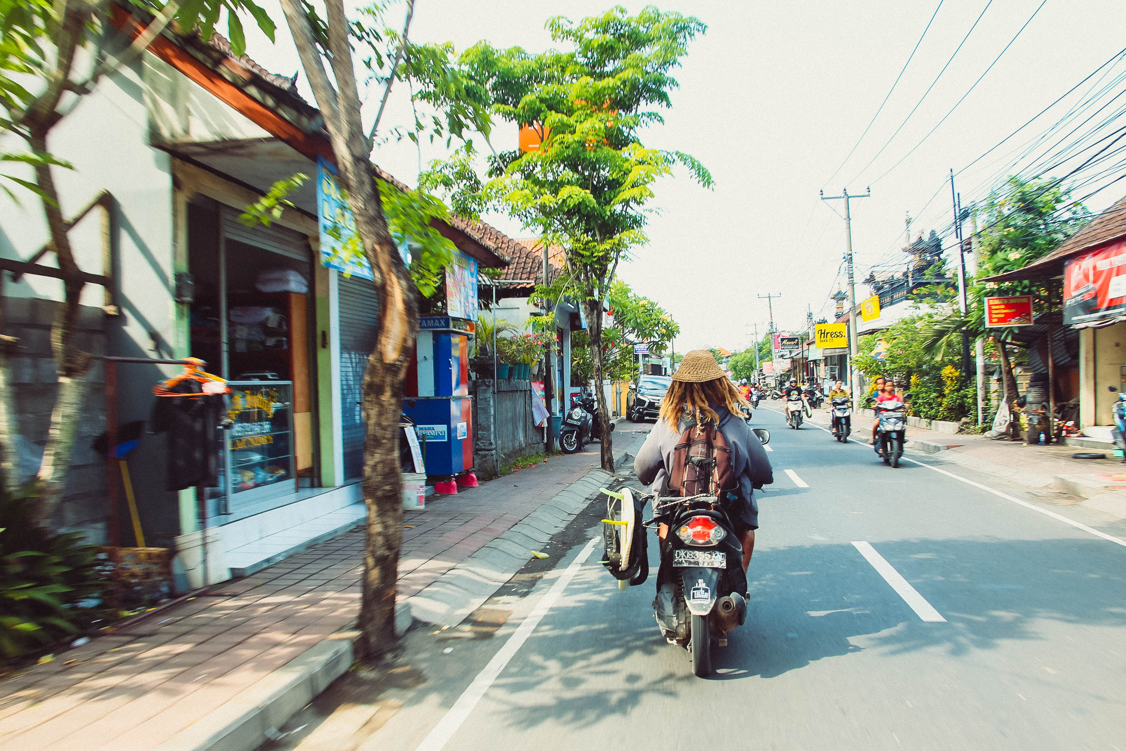 Free stock photo of bali, busy street, indonesia, moped