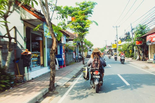Immagine gratuita di bali, ciclomotore, indonesia, strada affollata