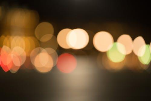 パステルカラー, 円, 街の明かりの無料の写真素材
