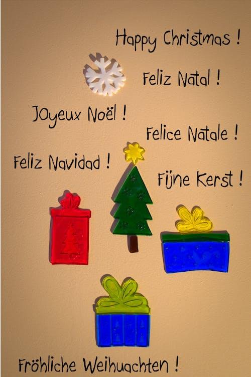 Immagine gratuita di biglietto natalizio, carrello, celebrazione, decorazione natalizia