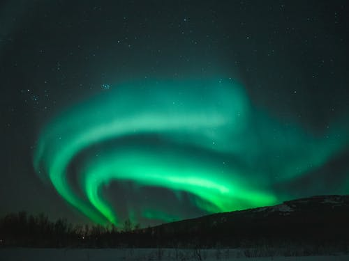 Aurora Borealis At Night