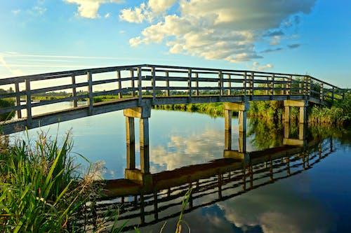 Foto d'estoc gratuïta de aigua, arquitectura, cel, pont