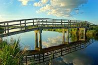 sky, water, bridge